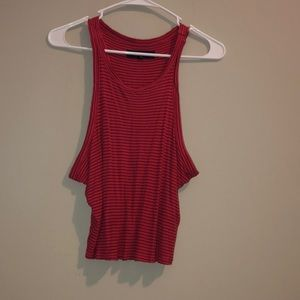 Size large red and purple crop top